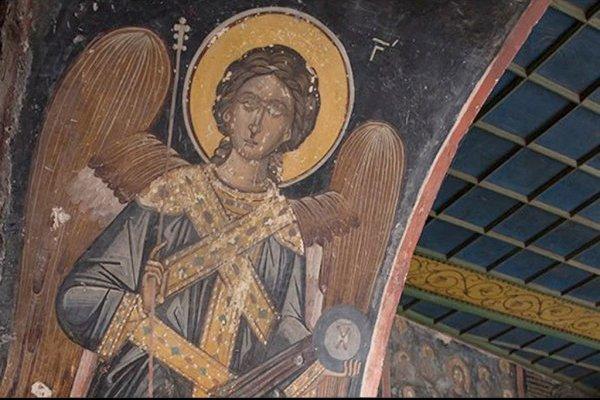 Шокирующие фрески на Афоне: сцены ядерного взрыва!