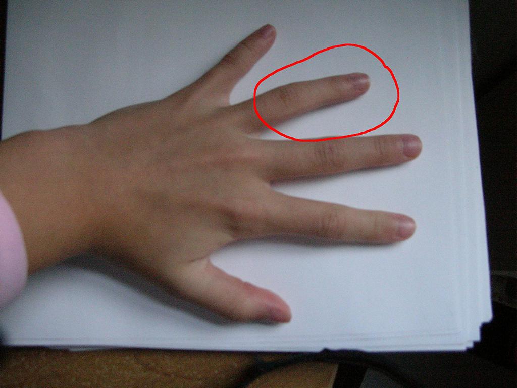 Странный  палец безымянный