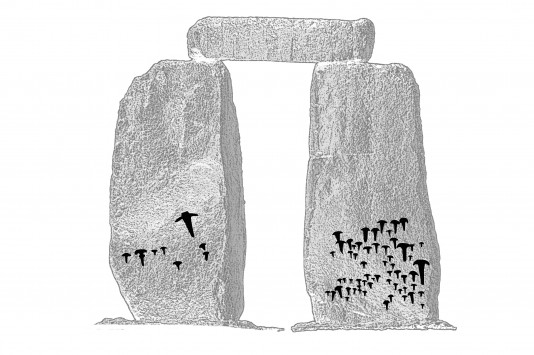 Stonehenge-Rock-art-on-stones