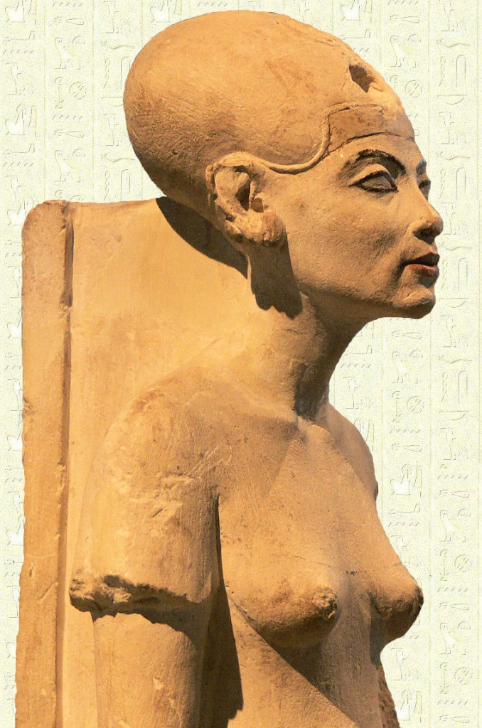 nefertiti-berlin, фараон Эхнатон,  Нефертити