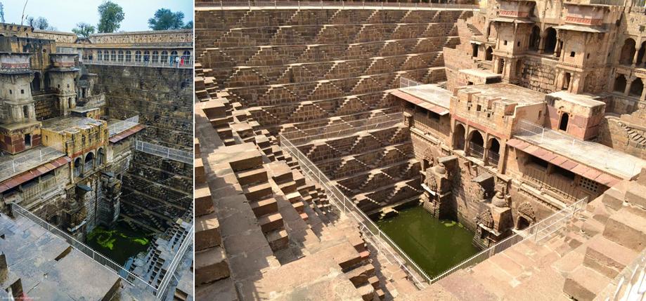 каменные колодцы в Индии